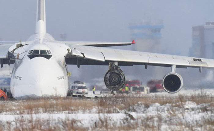 АН-124, Руслан, аварийная посадка,