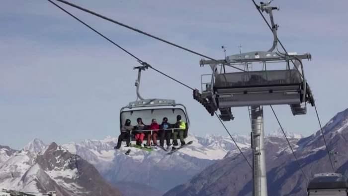 Австрия, лыжи, курорт,