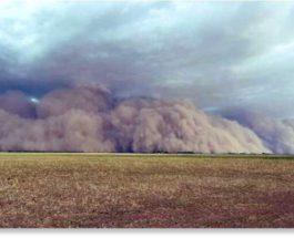 Аргентина, песчаная буря,