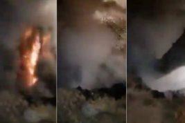 Египет, подземный пожар,