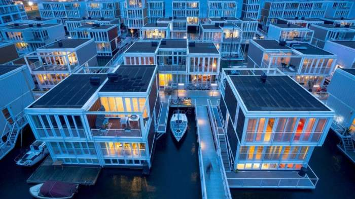 Ибург, Амстердам, плавучие дома,