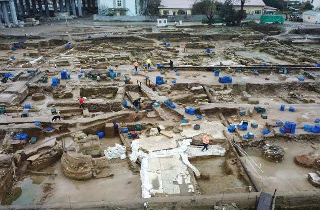 Турция, Стамбул, раскопки, византийский дворец,
