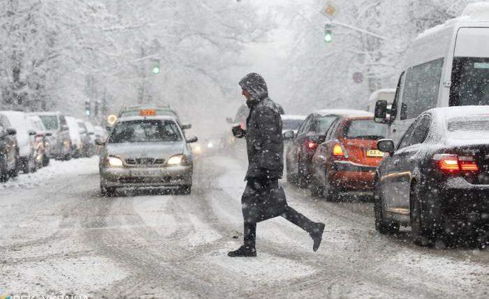 Украина, плохая погода, снег,