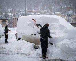 Швейцария, Австрия, снег, лавина,