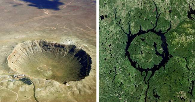 кратеры, метеориты, Земля,