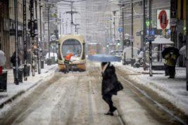 снег, Милан, Италия,