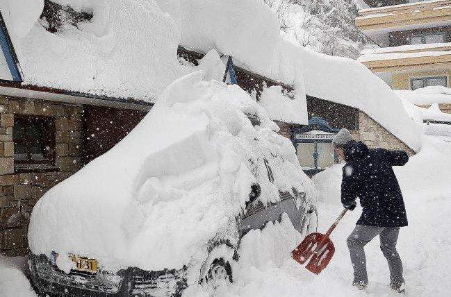 снег, США, снегопад,