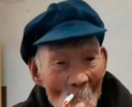 старик, Китай, курение, алкоголь,