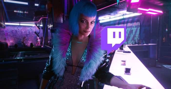 Twitch, трансляция, Cyberpunk 2077,