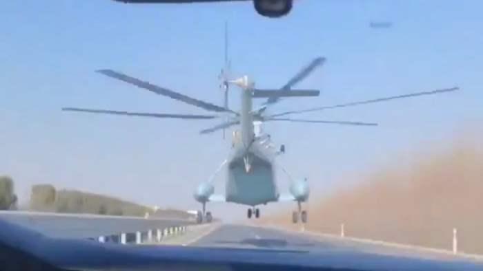 Z-8, Китай, вертолет, низкий пролет,
