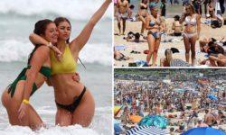 В Австралии жара до 30 градусов, все люди на пляже, не смотря на пандемию (ФОТО)