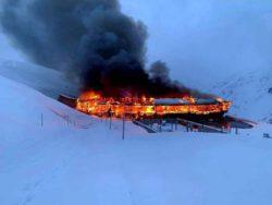 В Австрии сгорел Альпийский музей мотоциклов (ФОТО, ВИДЕО)