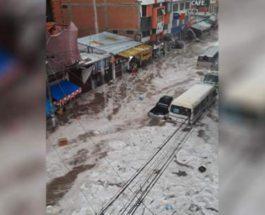 Боливия, дождь, град,