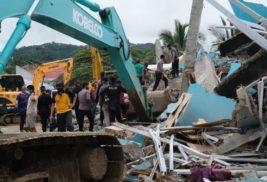 Индонезия, больница, обрушение, землетрясение,