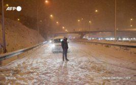 Испания, снег, метель,