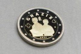 Италия, коронавирус, монета,