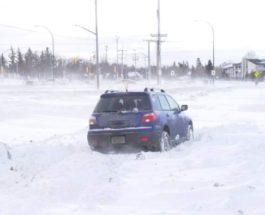 Канада, метель, снег, Саскачеван,