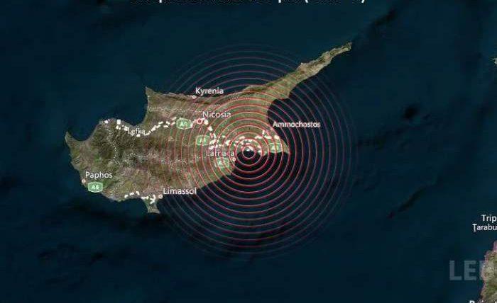 Кипр, землетрясение,