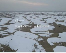 Китай, Таклимакан, снег, пустыня,