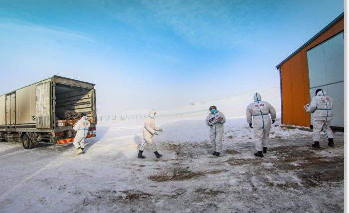Монголия, морозы, зима,