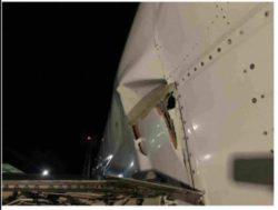 Грузовой Boeing 737-4 Q8 (SF) совершил жесткую посадку, из-за чего пострадал фюзеляж