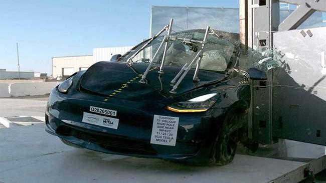 Тесла, Краш тест, безопасность, Tesla Model Y,