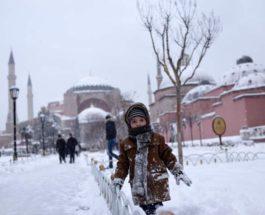 Турция, мороз,
