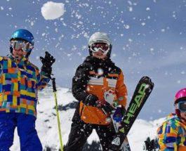 дети лыжи спорт