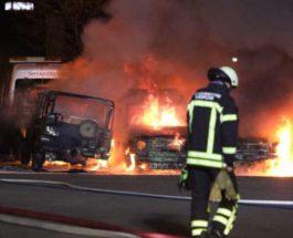 машины, пожар, Германия, Бундесвер,