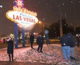снег, Лас-Вегас,
