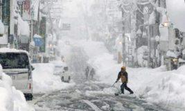 снег, шторм, Япония,