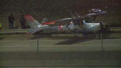 Самолет Cessna 150 J аварийно приземлился на шоссе в Техасе