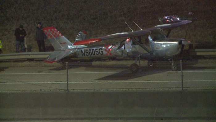 Cessna 150 J, Техас, аварийная посадка, шоссе,