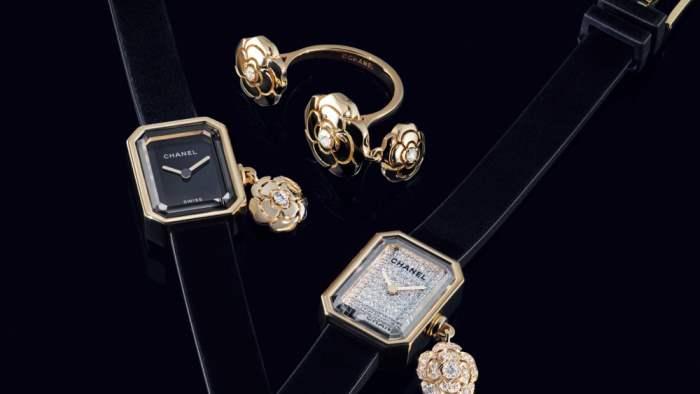 Chanel, часы, камелии,