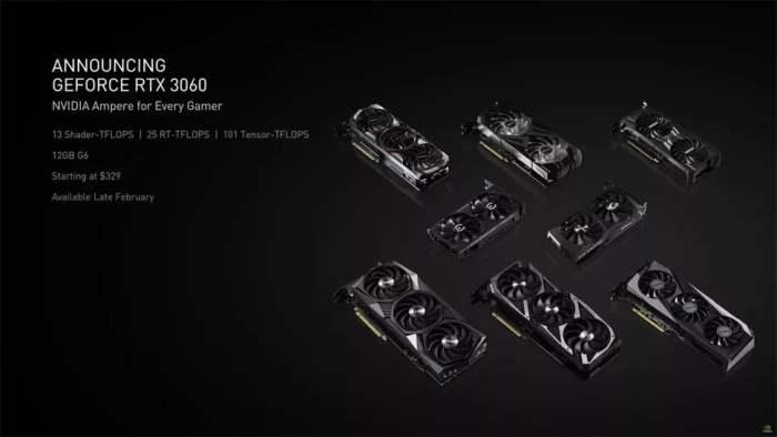 RTX 3060, видеокарта, дата выхода, характеристики,