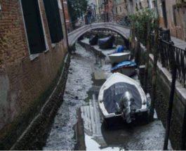 Венеция, гондолы, отлив, Каналы,