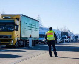 Германия, Чехия, граница, грузовики,