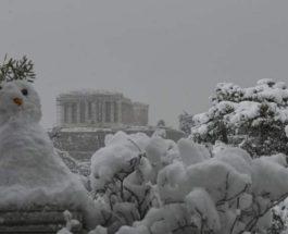 Греция, армия, Снежный шторм,