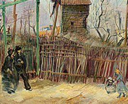 Картина Винсента Ван Гога, уличная сцена,