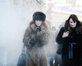 Москва, морозы,