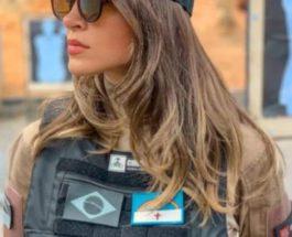 девушка, полицейский, Бразилия,