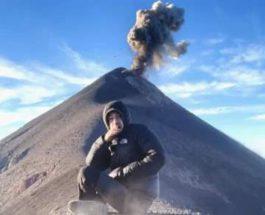 медитация, горы, Гватемала, вулкан, извержение,