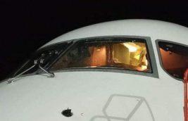 самолет стекло трещина