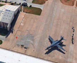 секретный самолет США, Google Earth,