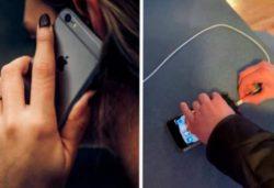 Никогда не разговаривайте по телефону, который заряжается (ВИДЕО)