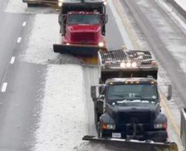 шоссе, снег, США,