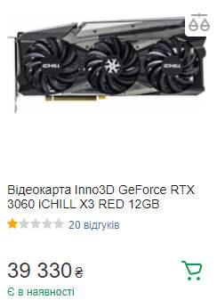 Nvidia RTX 3060, цена,