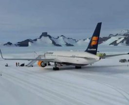 Антарктида, Boeing 767, взлетно-посадочная полоса,