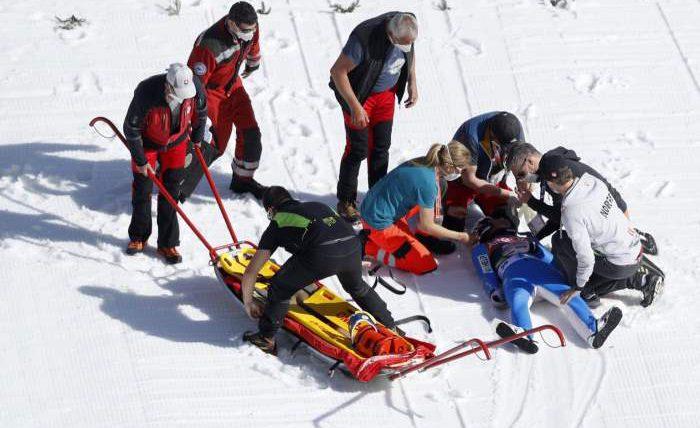 Даниэль-Андре Танде, лыжник, разбился,