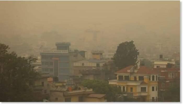 Катманду, Непал, рейсы, пожары, видимость,